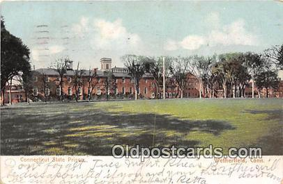 Connecticut State Prison Wetherfield, Conn USA Prison Postcard Post Card Weth...