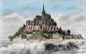 Modern Postcard Mont Saint Michel (Manche) Great Maree
