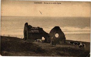CPA CARTERET - Ruines de la vieille Église (138148)