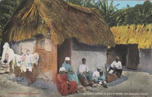 Greetings from Jamaica, Family Resting After a Day's Work on Banana Field, PU...