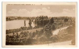 1927 RPPC View of Weequahic Park, Newark, NJ Real Photo Postcard