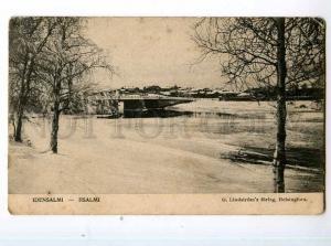247828 FINLAND IISALMI bridge view Vintage postcard
