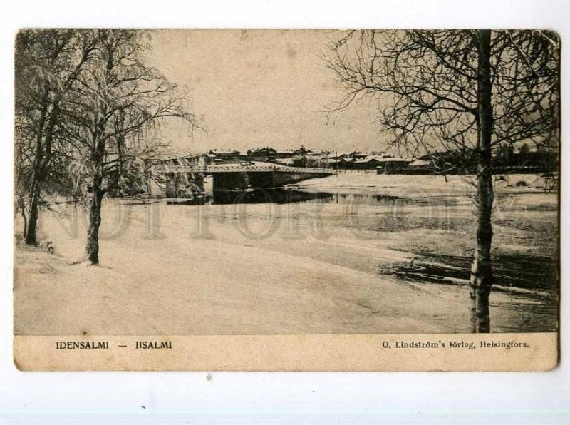 247828 FINLAND IISALMI bridge view Vintage postcard