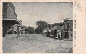 LPS53 Bucklin Missouri Main Street Town View Postcard