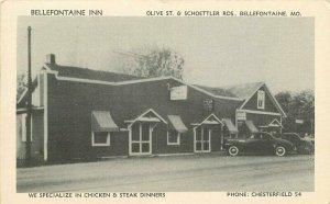 Bellefontaine Inn roadside Missouri McDermott Print Postcard 10446