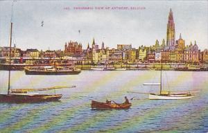 Belgium Panoramic View Of Antwerp 1912