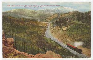 Railroad Train Pilot Knob Pikes Peak Colorado 1910s postcard