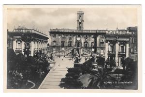 Italy Roma RPPC Il Campidoglio Piazza Capitol Hill Vintage Real Photo Postcard