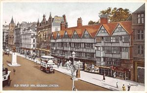 London United Kingdom, Great Britain, England Old Staple Inn, Holborn London ...