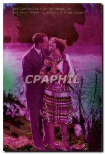Old Postcard Qua the sweet air and lake wafts Woman