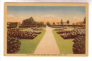 Flowers Circle Park, Deering Oaks. Portland, Maine,