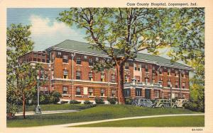 Cass County Hospital, Logansport, Indiana, Early Linen Postcard, unused