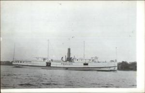 Steamer Ship PEQUOT c1950s-60s Real Photo Postcard