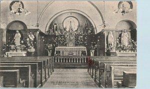 St. Catherine's Benicia Church Altar California Postcard