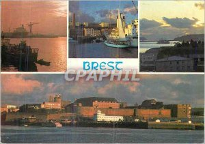 Modern Postcard Brest commercial port Gully and the castle