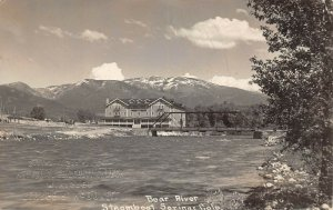 LPS21 Steamboat Springs Colorado Bear River Bridge Postcard RPPC