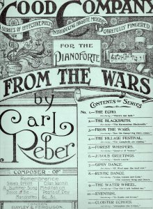 From The Wars Victorious Soldier Returns Antique Military Sheet Music