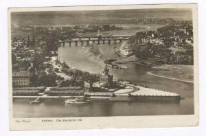 RP  Der Rhein, Koblenz. Das Deutsche Eck, PU-1930 GERMANY