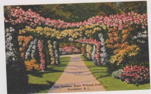 Scenic View of the Rose Gardens, Roger Williams Park, Providence, Rhode Islan...