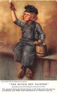 Paint & Wallpaper Advertising Old Vintage Antique Post Card The Dutch Boy Pai...