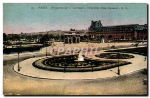 Old Postcard Paris Carousel Perspective