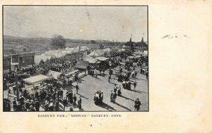 LP16 Danbury Fair Midway Connecticut Postcard