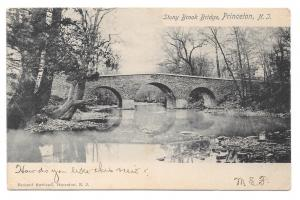 Princeton NJ Stony Brook Bridge 1905 Rotograph UDB Postcard Doremus Cancel