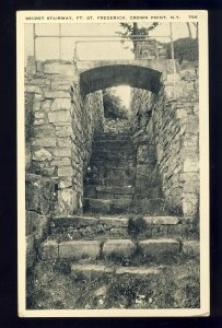 Crown Point, New York/NY Postcard, Secret Stairway, Fort St Frederick, 1939!