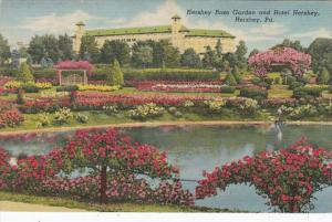 Ohio Hershey Hotel Hershey and Hershey Rose Garden 1959 Curteich