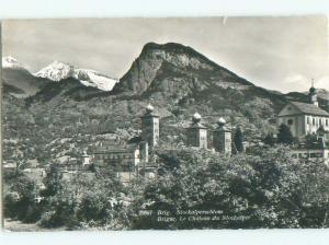 old rppc PALACE Brig-Glis - Brigue-Glis - Briga-Glis - Valais Switzerland i3493