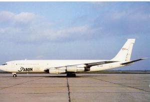 JASON AIR, B-707-324C, unused Postcard