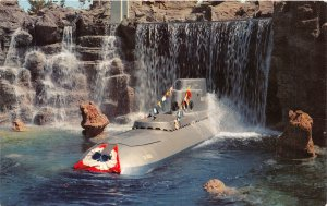 Disneyland Anaheim California 1960s  Postcard Submarine Falls