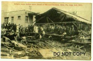 Erie Pa Flood Damage Aug 3rd 1915, Bodies found