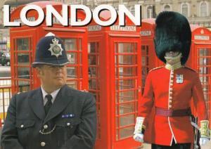Policeman Guarding Buckingham Palace Guard HUGE Postcard