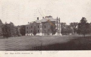 PRINCETON, Illinois, PU-1907; High School