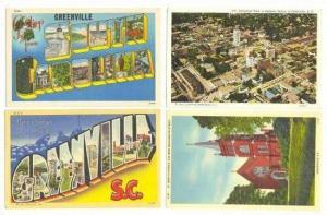 4 Postcards, Greenville, South Carolina, 30-40s #4