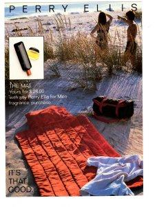 5 X 7 In Perry Ellis Fragrance for Men, The Mat, Vintage Advertising Postcard