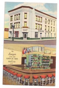 Saeger Hotel Rochester NY 1945 Curteich Linen Multiview