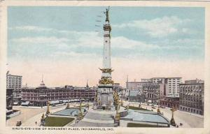 Indiana Indianapolis Bridge Eye View Of Monument Place 1919