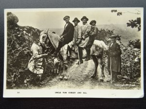 Devon Widecombe Fair UNCLE TOM COBLEY AND ALL - Old RP Postcard by Dunn
