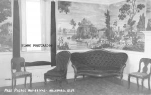 HILLSBORO, NEW HAMPSHIRE PIERCE HOMESTEAD-INTERIOR RPPC REAL  PHOTO POSTCARD