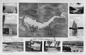 BG37821 grusse von schonen sorpesee map karten   germany