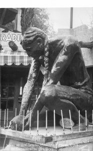 H55/ Manitou Springs Colorado RPPC Postcard c1940s Indian Ute Spring 75