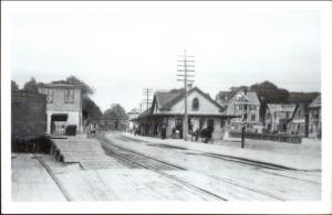Westerly RI RR Train Station Depot REPRO Real Photo Postcard on Kodak