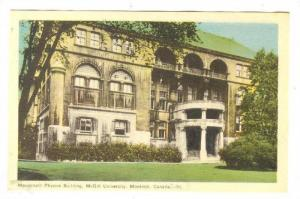 Macdonald Phusics Bldg, McGill University, Montreal, Quebec, Canada, 1930-50s