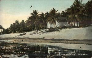 Oceania A Coral Island c1905 Postcard