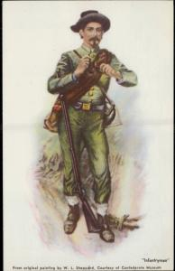 Confederate independence Confederacy Infantryman artist W. L. Sheppard