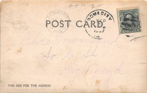 F54/ Rome City Indiana RPPC Postcard 1907 Natural Spring Well