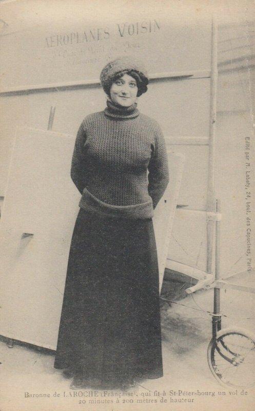 1st woman to fly an airplane , Raymonde de Laroche , 1910 : 1/3