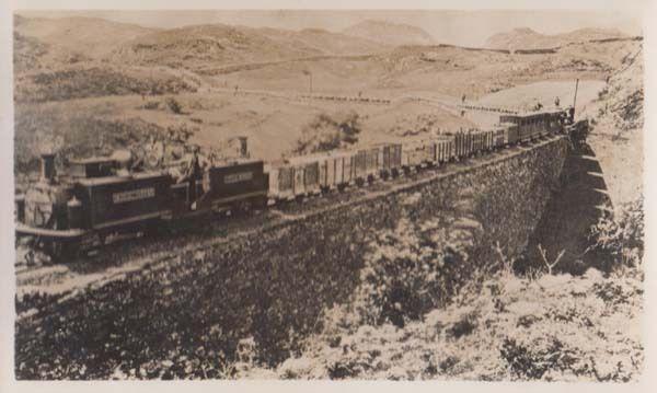 Fairlie's Patent Train Little Wonder Welsh Mountains Wales Old Railway Postcard